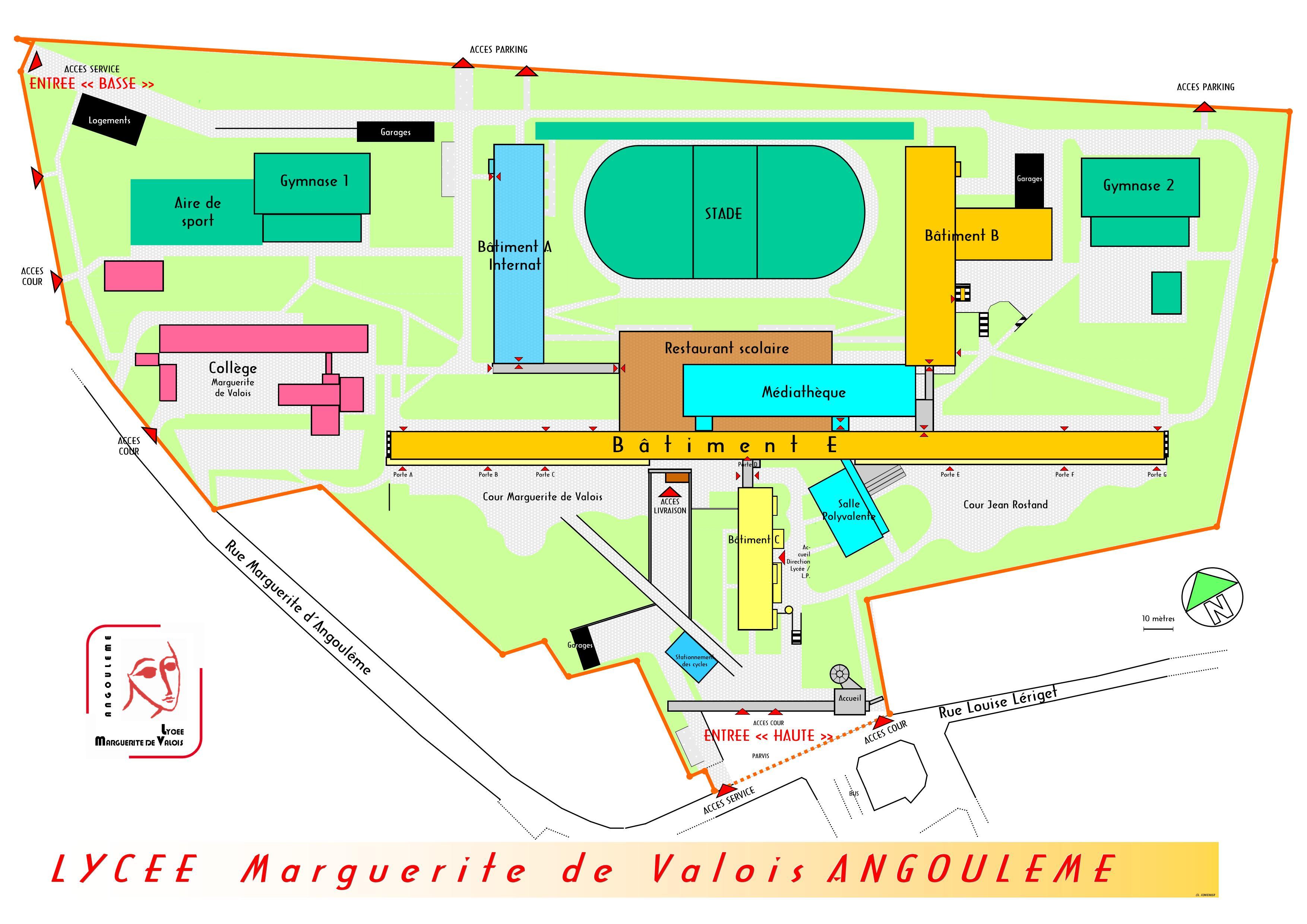 Plans lyc e marguerite de valois for Plan angouleme 16