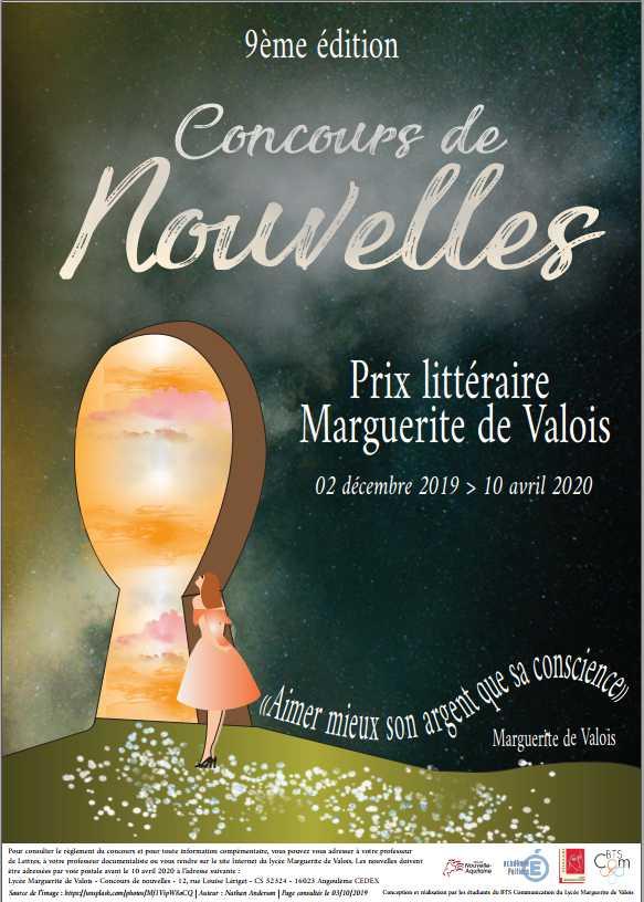 Prix littéraire Marguerite de Valois: Concours de nouvelles,  neuvième édition.