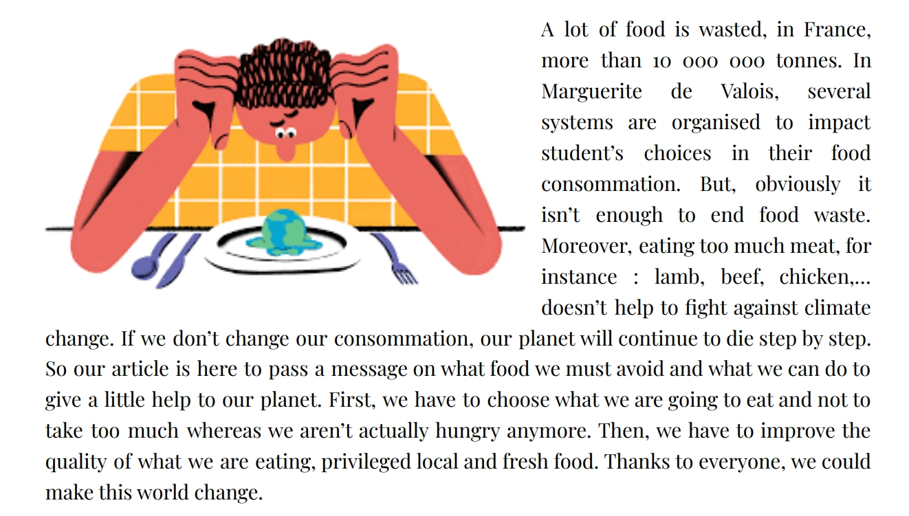 Euro text: food waste