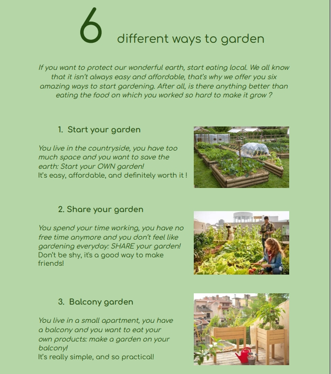 Euro text: How to make your own garden